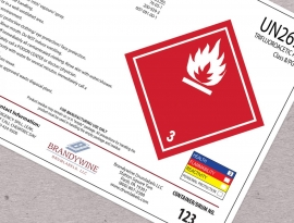 premium Poly-Twin® LX polyester label that meets all applicable regulatory standards and outperforms vinyl labels